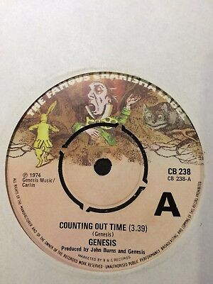 "Genesis Demo:""counting Out Time"".1974 Charisma-Same Track Both Sides Dj Only 7""!"