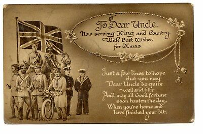 Vintage WW1 Christmas Card c1915