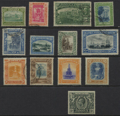 Jamaica 1921 - 1923 GV Set Sc #88-100 Used / MVLH High Values CV $142