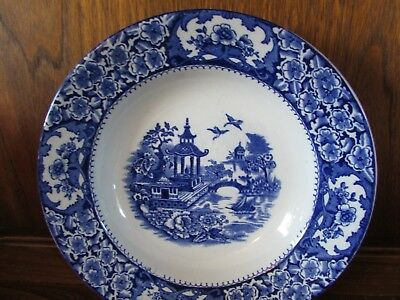 Old Alton Ware~Willow~1X25cms Rimmed Soup/Pasta Bowl