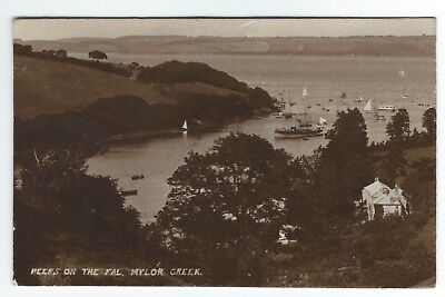 1913 RP Postcard peeps on the fall Mylor Creek in the sunny west series