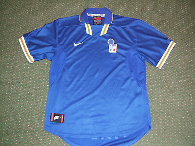 Vintage Italy Home Football Shirt, Size Large, Genuine Nike Dri-Fit, Mint Condi