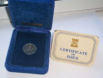 UNC SILVER 1978 ISLE OF MAN ONE POUND £1 COIN IN CASE WITH C.o.A. - IoM MANX
