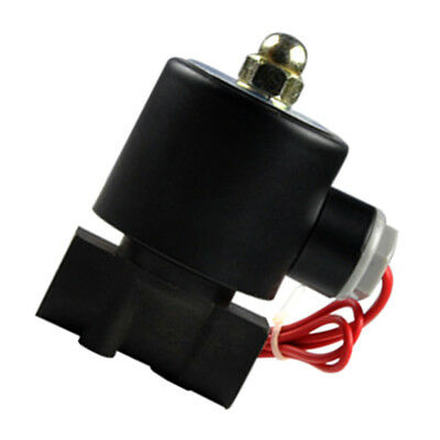 Electric Solenoid Valve 3/8Inch DC12V Water Air Gas Normally Closed Plastic