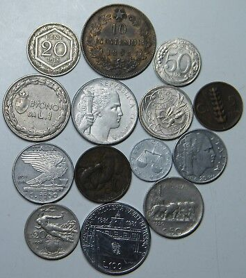 WCA 14 Coins From Italy 1893 - 1996 Lot # 104