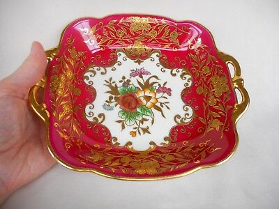 Attractive   Noritake Porcelain Decorative  Jeweled & Gilded Dish. ~ C1900.