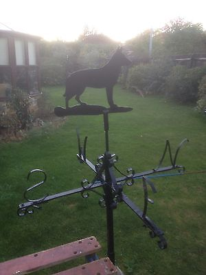 antique weather vane German Shepherd / Alsatian. Garden Ornament