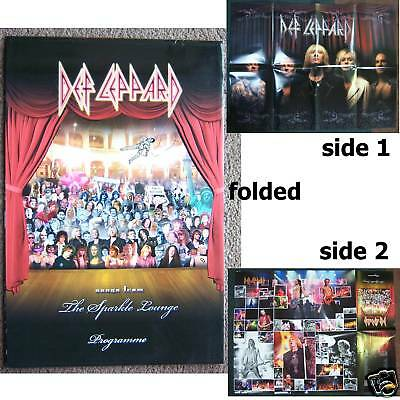 Def Leppard The Sparkle Lounge Tour 2008 Poster Program New Official