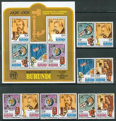 Burundi s´sheet + set ** MNH Graham Bell telephone ge42