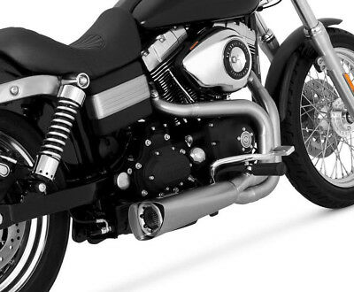 Vance & Hines Competition Series 2 Into 1 Exhaust For Harley Dyna 75-115-4