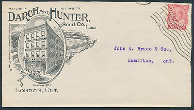 Darch and Hunter Seeds Illustrated Advertising Cover, London Ont