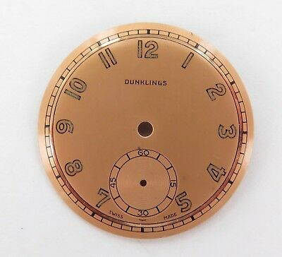 Rare / Vintage / New Old Stock Dunklings 26.3Mm Wristwatch Dial.