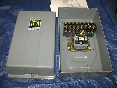 Square D Lighting Contactor Series D 8-Pole 8903LG 8 Pole New Old Stock
