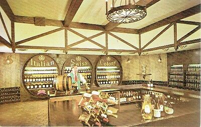 Vintage Postcard - The Wine Shop - Italian Swiss Colony Winery - San Francisco