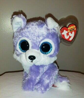 """Ty Beanie Boos ~ IRIS the 6"""" Wolf ~ 2017 Great Wolf Lodge Exclusive ~NEW IN HAND"""