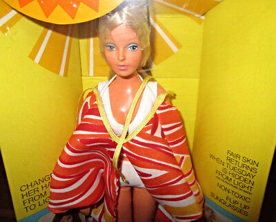 Ideal Suntan Tuesday Taylor Doll Tanning Doll Hair Changes Colors COOL new inbox