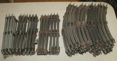 65 Piece Lot Lionel Assorted O27 Gauge Train Track Curved Straight Vintage