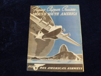 Vtg 1930's-40's Pan American Airline Clipper Cruises South America Brochure Q192