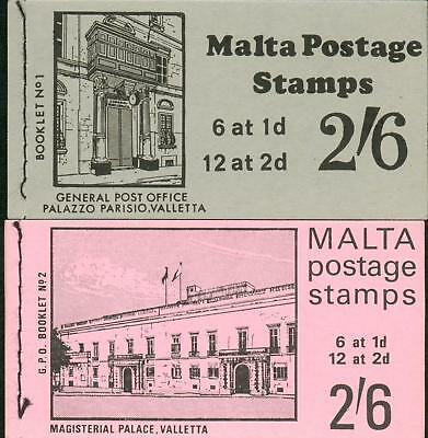 Malta 2 different booklets 1965 ** MNH Markenhefte gg07
