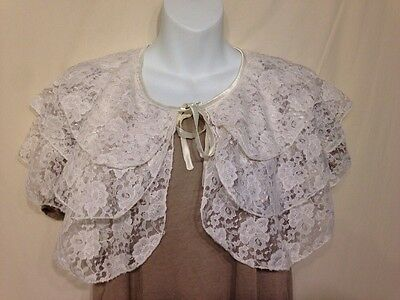 Women's New Aimee Lynn Lace Ruffle Bridal Cape-Size S