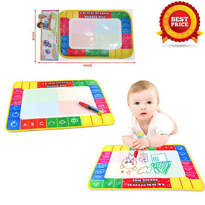 New Water Drawing Painting Writing Mat Board Magic Pen Doodle Gift 29X19cm Cloth