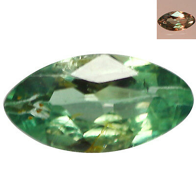 0.13Ct Grand look Marquise cut 4 x 2 mm Green To Red Color Change Alexandrite