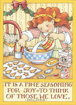 Moliere-FINE SEASONING JOY-Handcrafted Christmas Magnet-With Mary Engelbreit art