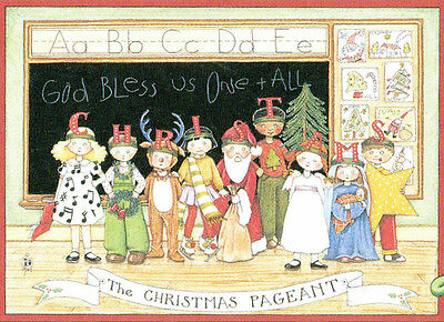 THE CHRISTMAS PAGEANT-Handcrafted School Program Magnet-With Mary Engelbreit art