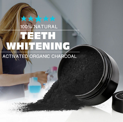 Oral Teeth Whitening Powder Natural Organic Activated Charcoal Bamboo Toothpaste