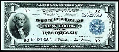 1918 NEW YORK,NY $1 Large Federal Reserve Note ~ UNCIRCULATED~HIGH GRADE