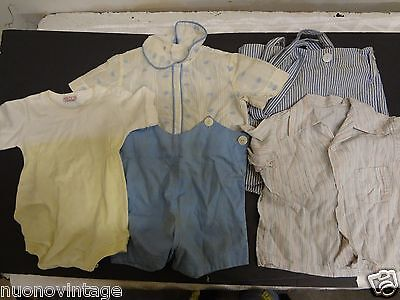 Vintage  60's 50's boys romper shirt clothing lot as is parts costume dolls bear