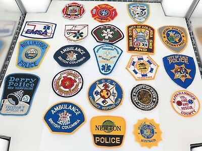 Superb Job Lot Usa / American Police / Emergency Services Cloth Patches. #5