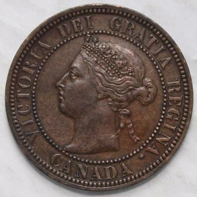 1882H Obv. 2 Large Cent, Nice Grade, Old Date Queen Victoria