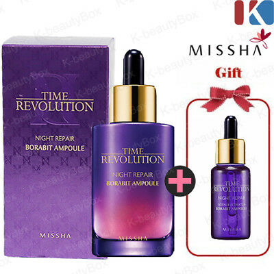 MISSHA Time Revolution Night Repair Borabit Ampoule 50ml, 10ml  Anti-Aging Serum