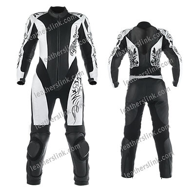 Women New Motorbike Motorcycle Racing Ladies Leather Suit MST-206 (US- 24,26,28)