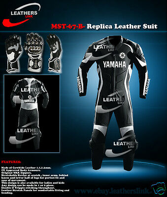 Men Biker Motorbike Motorcycle Racing Leather Suit MST-67-B-Replica(US 38,40,42)