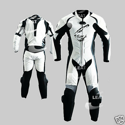 Leather Men Motorbike Motorcycle Racing Leather Suit MST-67-LION(US 44,46,48)