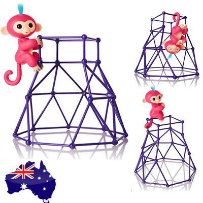 Fingerlings Monkey Jungle Gym Playset Interactive Baby Monkey Climbing Stand AU