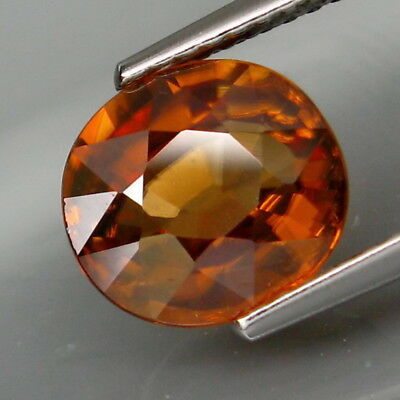 3.85Ct.Very Good Color&Full Sparkling! Natural Imperial Zircon Tanzania