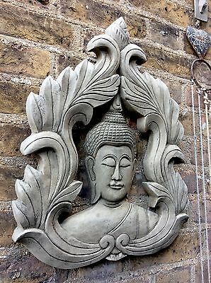 Very Large Divine Thai  Buddhas Wall Plaque. Unique From The Designer Sius.