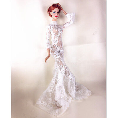 handmadee lace gown dress outfit for fashion royalty silkstone barbie IT dolls 2