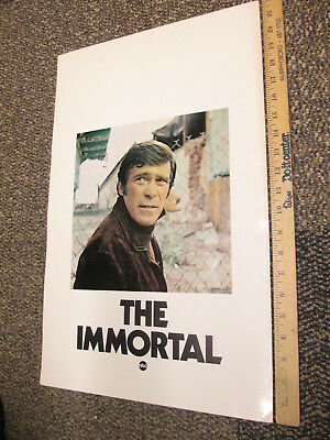 ABC 1970 TV show photo industry promo poster THE IMMORTAL Christopher George