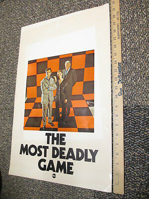 ABC 1970 TV show photo promo poster MOST DEADLY GAME Yvette Mimieux Geo Maharis
