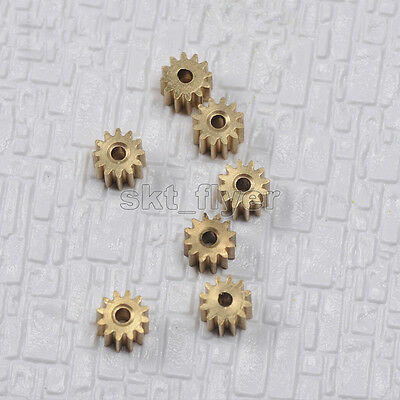 2pcs 7mm Stainless Steel 12T Gears M0.5 Robotic Car Toy Hobby DIY