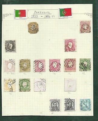 Portugal & colonies Nyassa Liberia India & states MH & U old stamps 7 pages