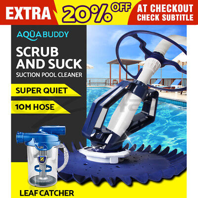Swimming Pool Cleaner Floor Climb Wall Automatic Vacuum 10M Hose Leaf Catcher
