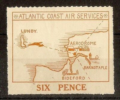 Lundy Atlantic Coast Air Services 6d Mint