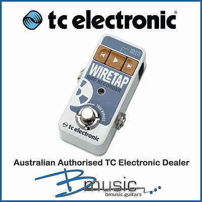 Brand NEW TC Electronic WireTap Riff Recorder - Capture the songs in your head