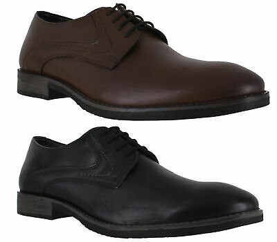 Mens Hush Puppies Carlos Luganda Smart Casual Lace Up Plain Shoes Sizes 6 to 12