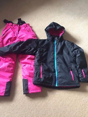 Girls Crane Ski Suit Ski Jacket & Ski Trousers Age 11-12 Worn Once Fab Condition